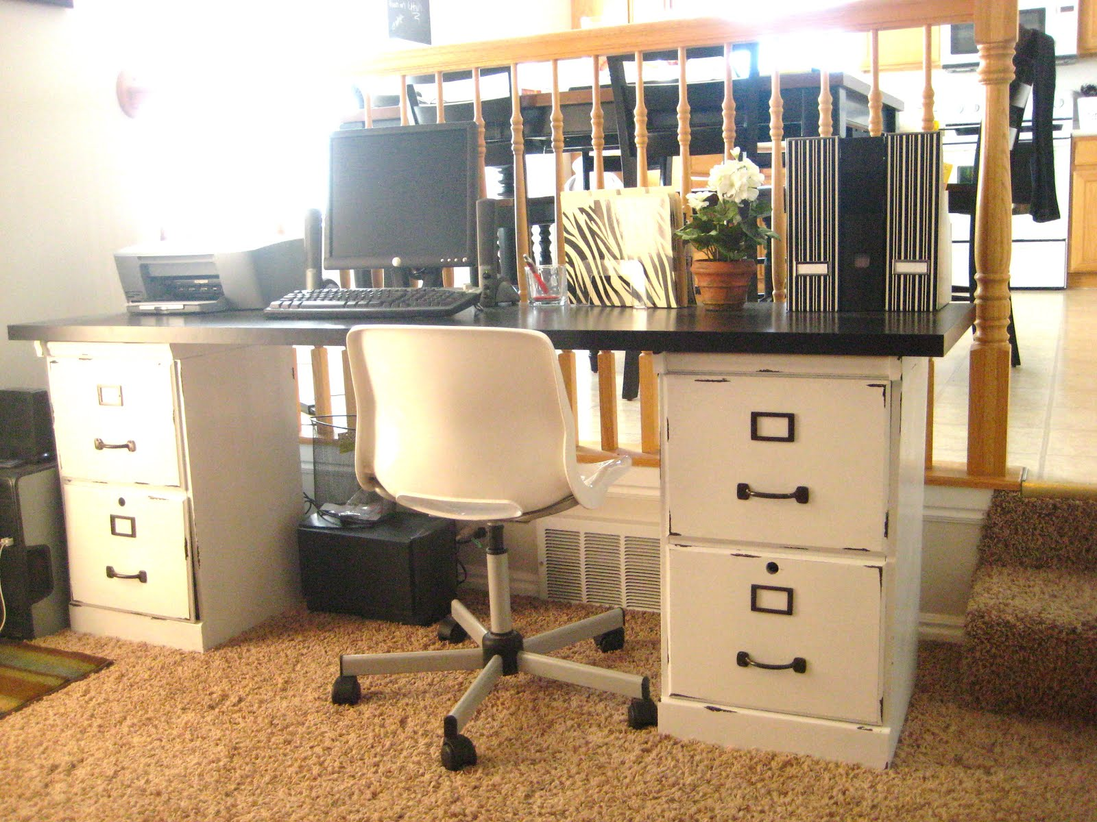 Before u0026 After Filing Cabinets : desks with file cabinets - Cheerinfomania.Com