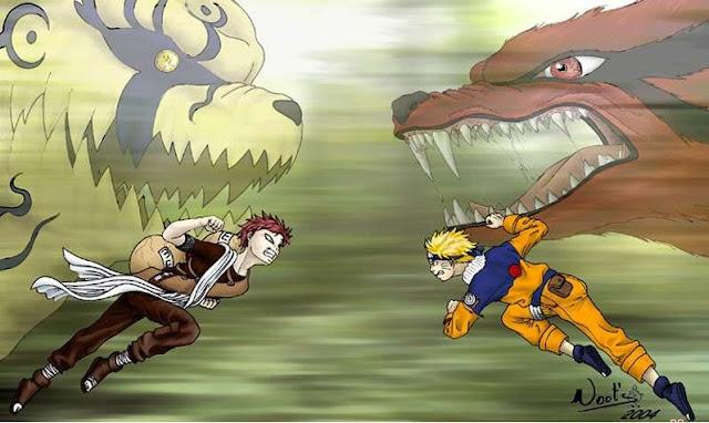 Trận chiến giữa Naruto với Gaara