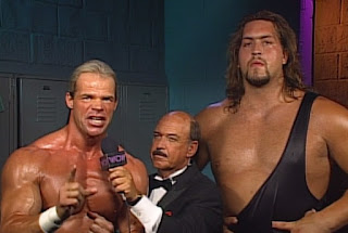 WCW Spring Stampede 1997 - Lex Luger & The Giant interviewed by Mean Gene