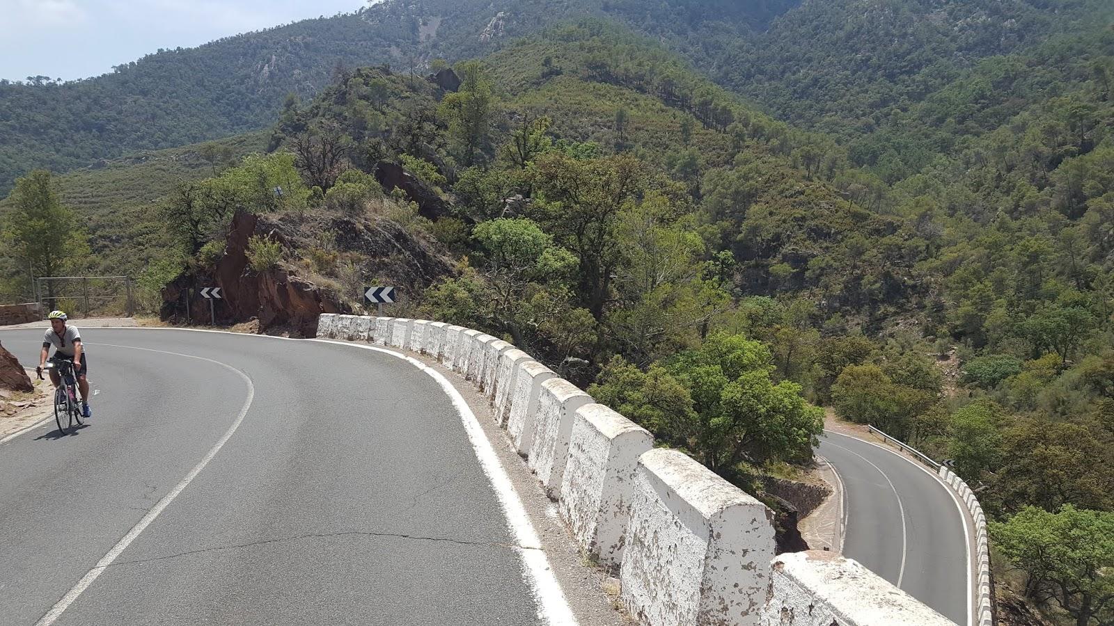 Bike riding in Sierra Calderona, province of Valencia, Spain