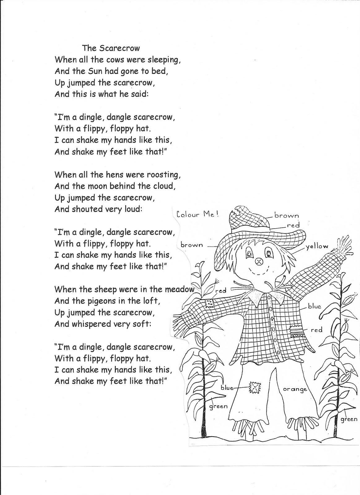 Curriculum Tips The Dingle Dangle Scarecrow