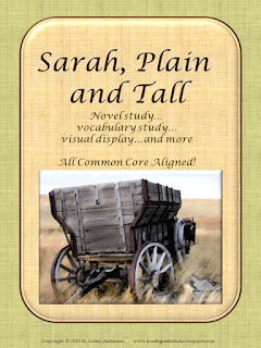 Getting ready to teach historical fiction using Sarah, Plain and Tall as a mentor text.  Sarah, Plain and Tall novel study, historical fiction book clubs