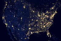 The United States at night seen by Suomi NPP satellite