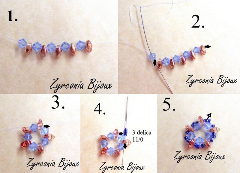 Favorito Zyrconia Bijoux: Patterns Beads: Schemi perline: Tutorial  NC71