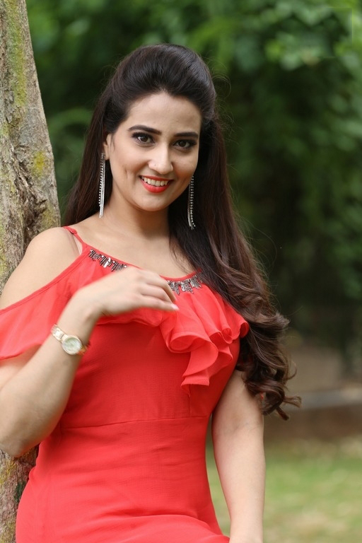Manjusha Stills At Kurukshetram Trailer Launch