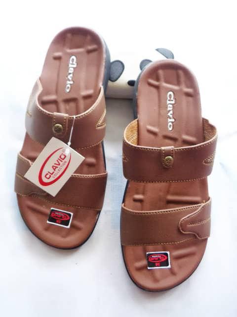 Produksi sandal Semi kulit Bogor || Sandal Imitasi Clavio