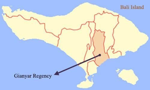 Geografi Kabupaten Gianyar, Bali