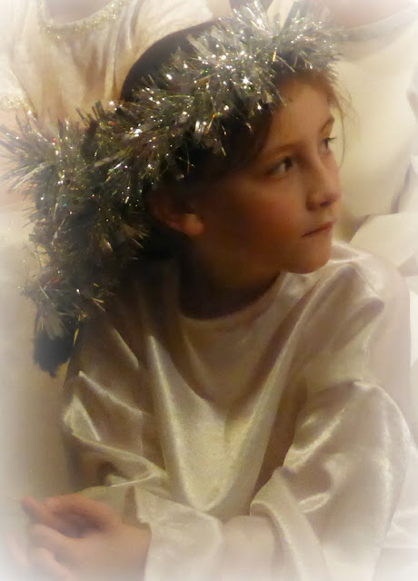 sasha as a pensive angel
