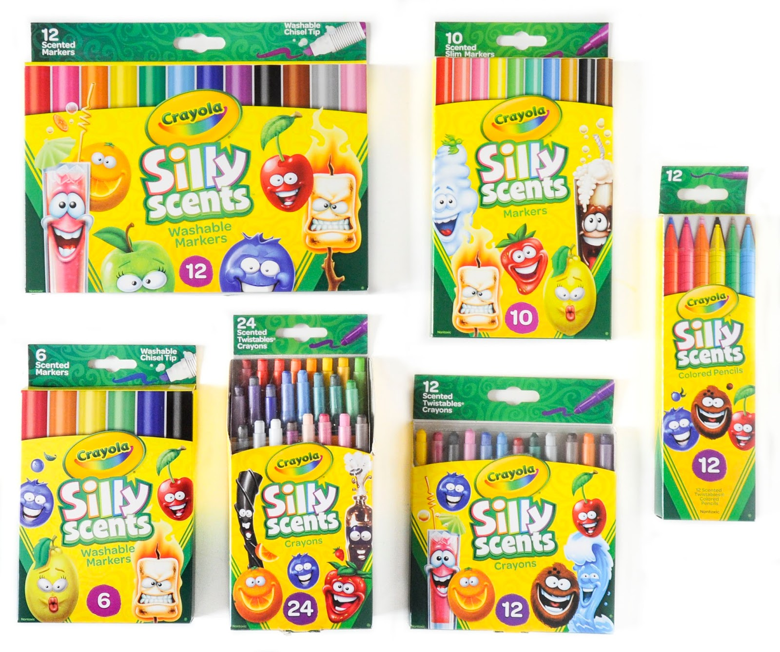 Crayola Silly Scents 12 Twistables Coloured Scented Pencil Crayons