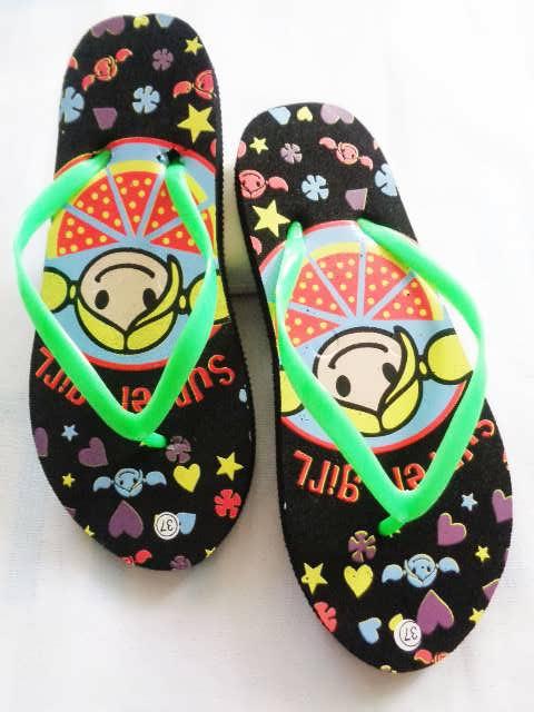 Sandal spon dengan kualitas sablon terbaik | Sandal Murah Wanita