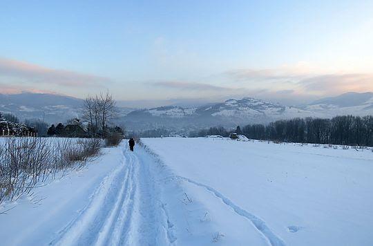 Za doliną Mszanki wznosi się Grunwald (624 m n.p.m.).