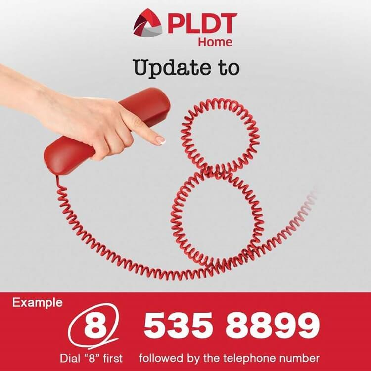 PLDT Users with Area Code (02) Now Have 8-digit Telephone Numbers
