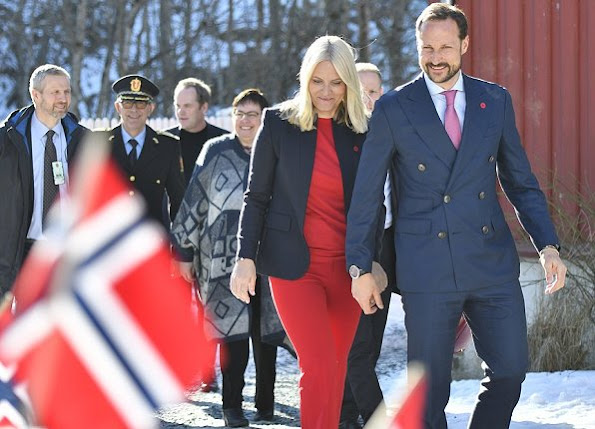 Crown Princess Mette-Marit and Crown Prince Haakon visited a women shelter in Trondheim on International Women's Day