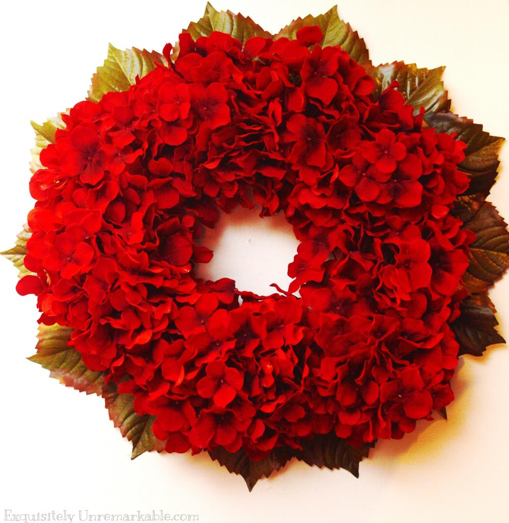 Easy DIY Red Hydrangea Wreath Exquisitely Unremarkable