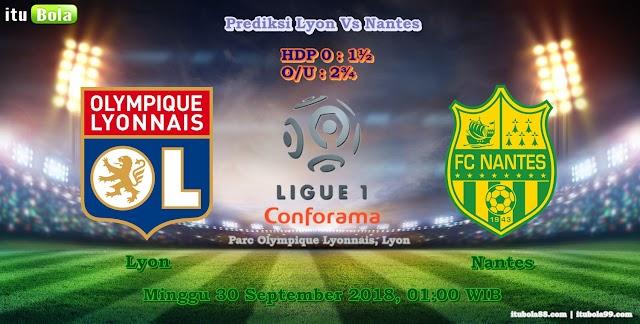 Prediksi Lyon Vs Nantes - ituBola