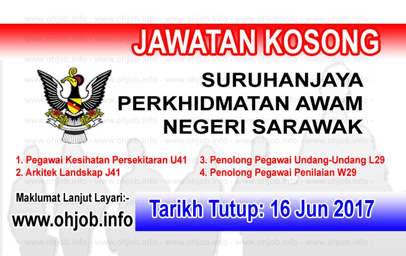Jawatan Kerja Kosong SPANS - Suruhanjaya Perkhidmatan Awam Negeri Sarawak logo www.ohjob.info jun 2017