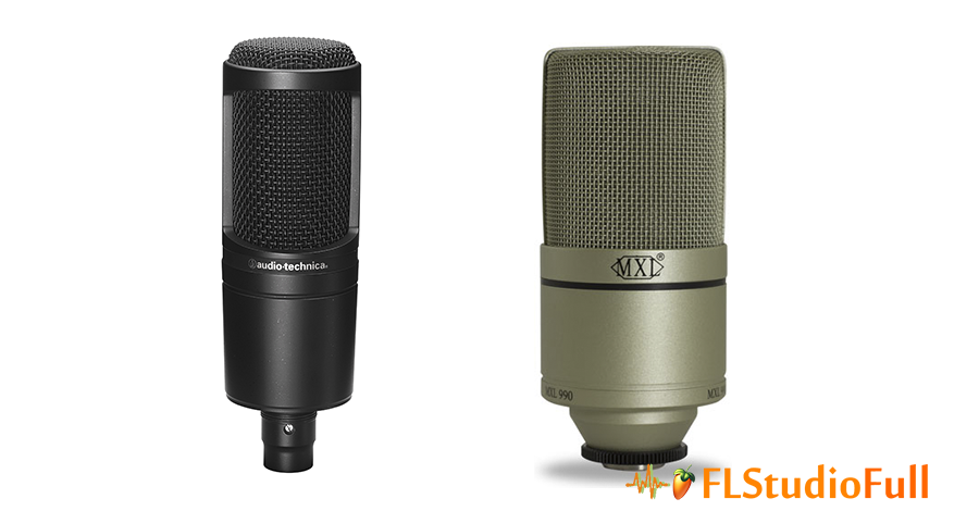 Microfones Condensadores de Estúdio AT2020 x MXL990