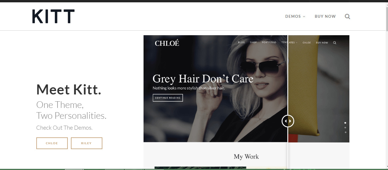 Kitt-wordpress theme for personal fashion blog