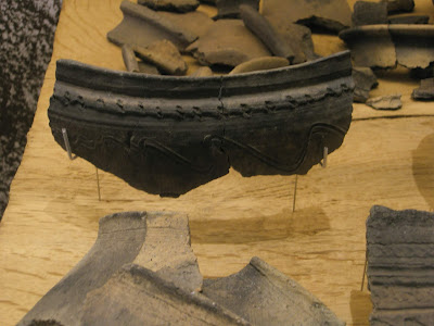 Viking age ceramic finds from the Trellefortress, DK.