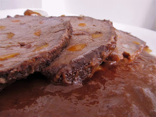 "Beef prepared Dalmatian way ( Dalmatian ""Pašticada"")"