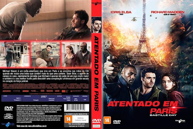 Capa DVD Atentado Em Paris