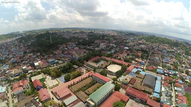 Foto Udara Seputaran Daerah Air Putih Kota Samarinda