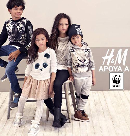 Colección de ropa infantil HM y WWF