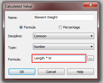 Revit: Calculating the weight of structural members (and how