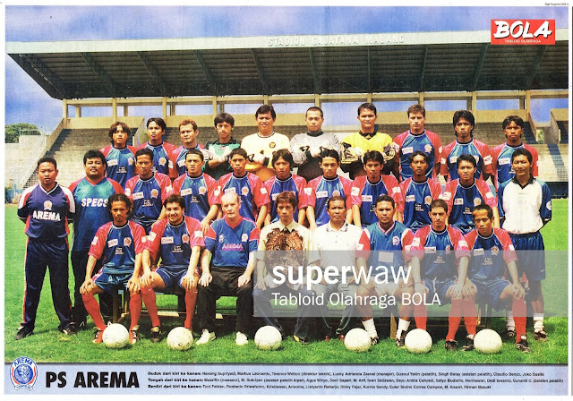 POSTER TIM PS AREMA 2002