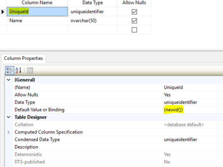 Dynamics Customer Engagement: Autogenerate GUID in SQL Table