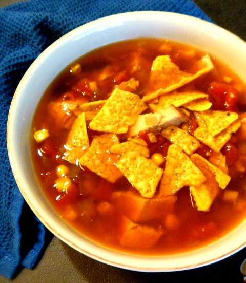 11 Healthy Soups: Slow Cooker Turkey Tortilla Soup - Slice of Southern