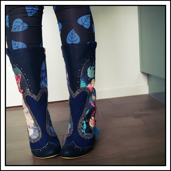 wearing irregular choice alice lost your muchness boots front