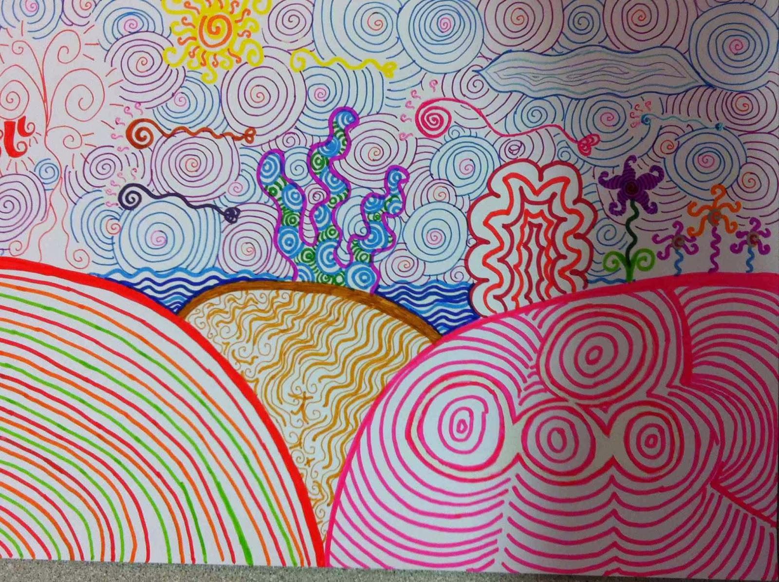 Dibujo De Lineas Paisaje: 2013/14 - LÍNEAS Paisaje Imaginario