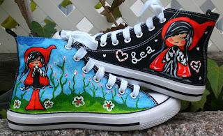 Zapatillas customizadas, pintadas a mano, con diseños originales por Talentox2 Moda