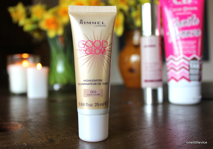 one little vice beauty blog: rimmel good to glow highlighter in soho glow review