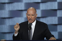 California Governor Jerry Brown speaks on the third day of the Democratic National Convention in Philadelphia, Pennsylvania, U.S. in this file photo dated July 27, 2016. (Credit: Reuters/Mike Segar) Click to Enlarge.
