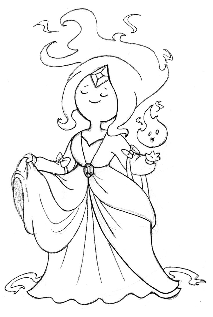 adventure time flame princess coloring pages