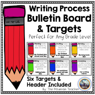https://www.teacherspayteachers.com/Product/Writing-Process-Targets-Bulletin-Board-3752518