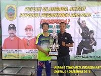 Piala POSPEDA Untuk Ponpes Darul Ma'la