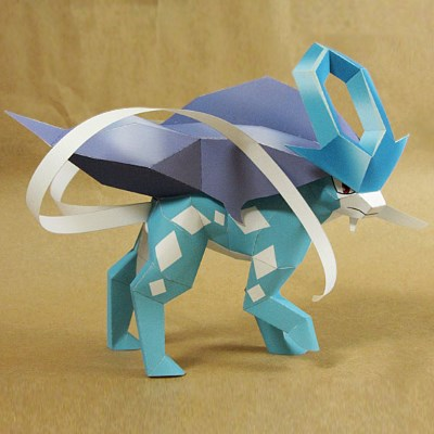 Pokemon Papercraft: Suicune