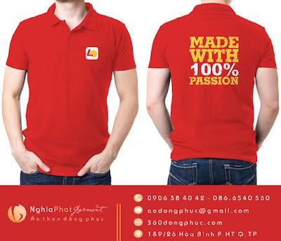 Mẫu áo đồng phục đã và đang được sản xuất tại công ty may đồng phục Nghĩa Phát