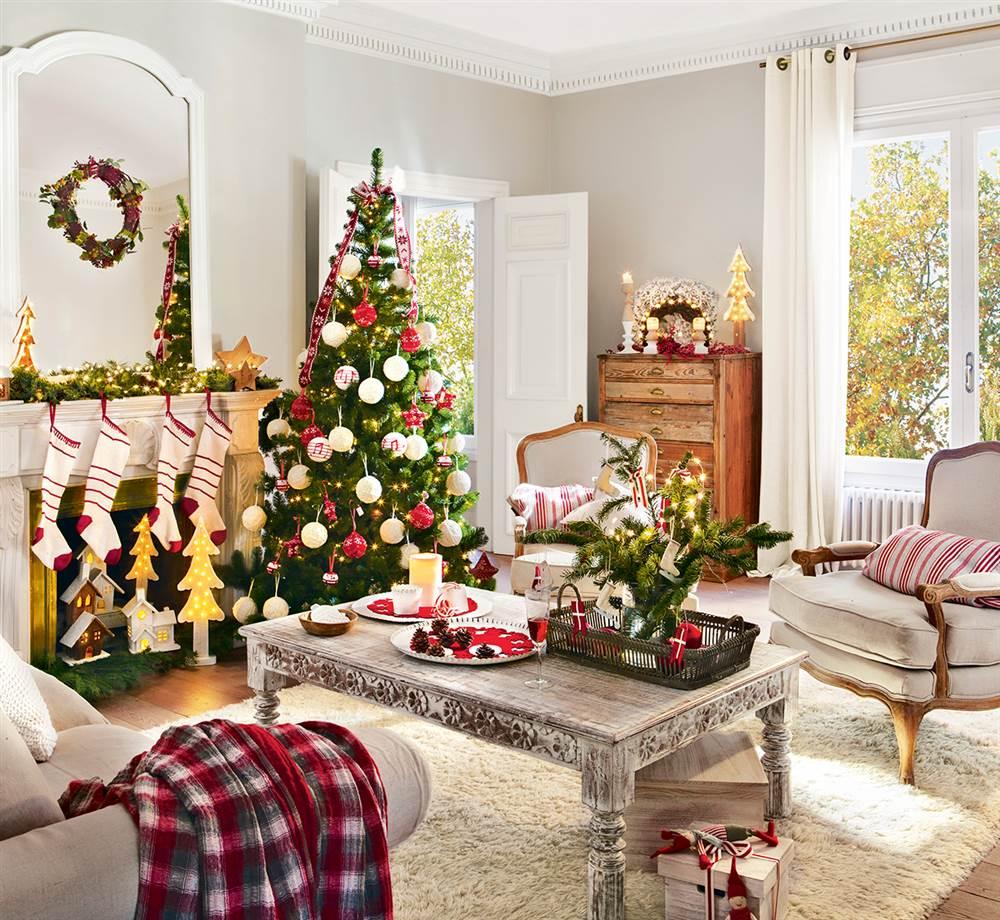 24 Fotos de salas decoradas para o Natal  Decorao e Ideias