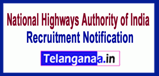 National Highways Authority of India NHAI Recruitment Notification