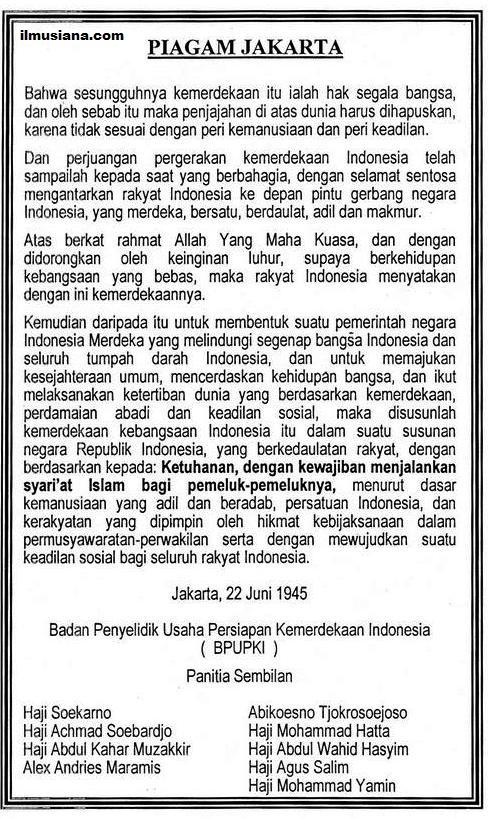 Sebutkan Isi Piagam Jakarta : sebutkan, piagam, jakarta, Piagam, Jakarta, Kodim