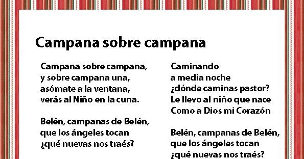 Imagenes De Villancicos Campana Sobre Campana.Imprimir Villacincos De Navidad Imagenes Y Dibujos Para