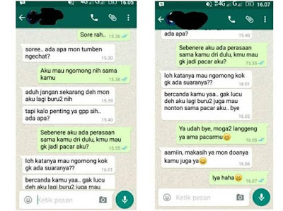 Obrolan Kocak Cowok Nembak Cewek Via Whatsapp Ini Bikin Ngakak Prihatin!