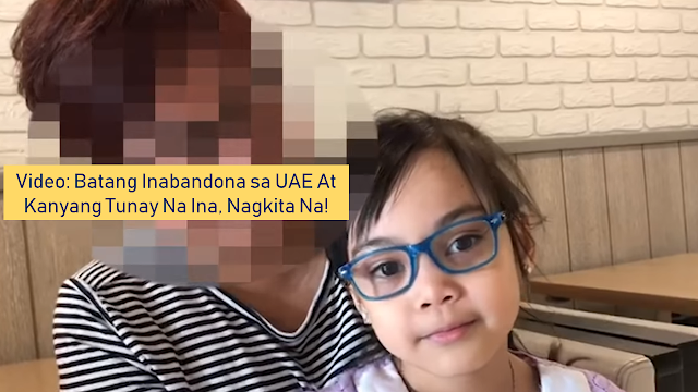 "The biological mother of the abandoned 6-year-old girl in the UAE who is a Filipina finally surfaced revealing the girl's real name and her age. According to the woman, the girl is a product of her former affair to a Filipino man. She admitted that she is married and has two other daughters in the Philippines. She also clarified that the girl is now seven and not six years old.       Ads           The real mother of Fatima the girl who had been abandoned in Ajman with no paperwork — finally surfaced agreed to cooperate in order to get the girl documented so she could attend school.     Reunited in a fast food joint in Karama, close to where the real mother still stays, it was explained to Fatima that she is actually seven-years-old not six (born February 15, 2012)she also told her that her real name is Angel.    The mother whose identity is not revealed, now 50 years old, is married with two teenage girls in the Philippines. She admitted that she had a relationship with another OFW in Dubai only a few months after arriving in the UAE.    She got pregnant and had the baby in a local Dubai hospital filed under the marriage certificate of her and her husband, who is still in the Philippines.  Ads          Sponsored Links    ""My boyfriend left me before the birth and within a month of having Angel I found it too difficult to support both her and my family in the Philippines because I was the only provider,"" the mother told Gulf News.    Then, a male friend of the mother approached another Filipina through a prayer meeting in Satwa and it was agreed the child could be 'looked after' by the second Filipina, who wanted a child because she and her Pakistani partner couldn't have it as they are both in their 50's.    The couple became her foster parents and taken care of the girl, who they gave the name Fatima, for five years until December 2018, the couple had a financial crisis and forced to have Fatima for adoption by a man named Syed Ali Moazzam.    Moazzam is indeed very eager to take custody of the girl but unfortunately, they had struggles with legalities since the girl had no documents supporting her identity. Moazzam also sought the help of the Philippine Embassy in the UAE in the hope of finding the girl's real mother but to no avail.   A few days after Fatima's story went trending on social media and with the help of a local news company, they were able to find ways to locate the Filipina which agrees to cooperate in helping with the legalities that will allow Moazzam to adopt the girl. However, she wanted her real identity to be concealed. She does not want her family in the Philippines to know about Fatima.    Fatima seems happy that she finally met her real mom. Likewise, she is also thankful that with her help, she may now be legally adopted by her newfound parents and will finally be able to go to school after obtaining all the documents she needed."