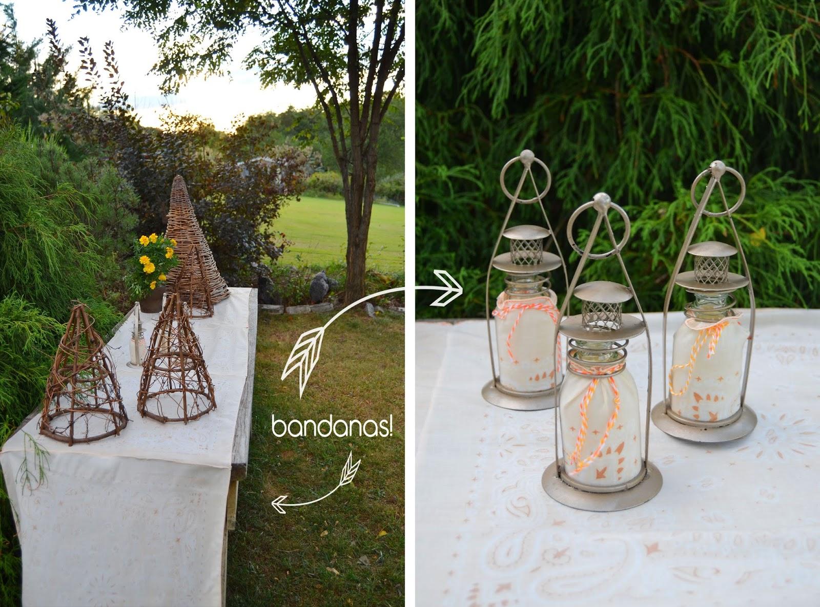 Quick Fade Bleached Bandana Lanterns