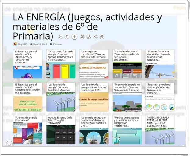"""""""14 Juegos, actividades y materiales para el estudio de LA ENERGÍA en 6º de Primaria"""""""