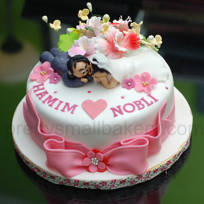 Kek Hantaran Kahwin Hamim Amp Nobli Prettysmallbakery